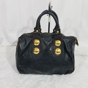 Gucci Babouska black leather Boston bag